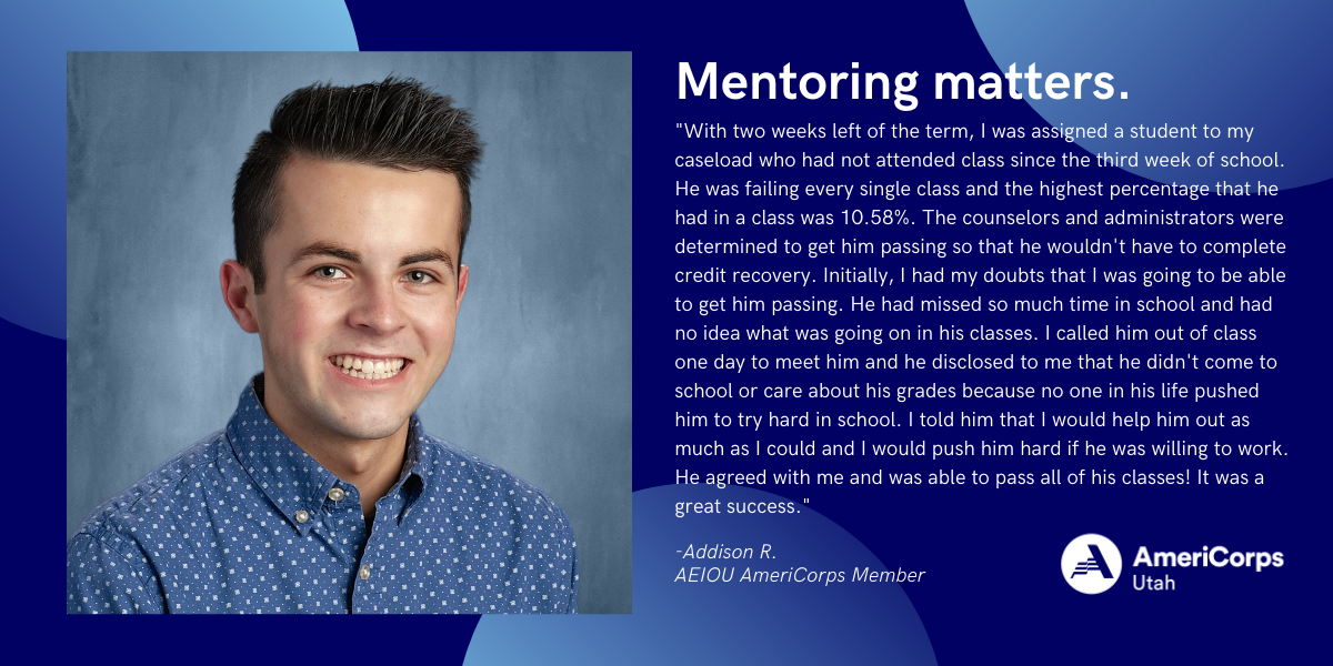 """""""With two weeks left of the term, I was assigned a student to my caseload who had not attended class since the third week of school. He was failing every single class and the highest percentage that he had in a class was 10.58%. The counselors and administrators were determined to get him passing so that he wouldn't have to complete credit recovery. Initially, I had my doubts that I was going to be able to get him passing. He had missed so much time in school and had no idea what was going on in his classes. I called him out of class one day to meet him and he disclosed to me that he didn't come to school or care about his grades because no one in his life pushed him to try hard in school. I told him that I would help him out as much as I could and I would push him hard if he was willing to work. He agreed with me and was able to pass all of his classes! It was a great success."""""""